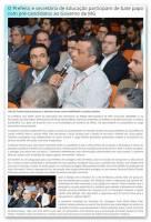 O Prefeito e secretária de Educação participam de bate papo com pré-candidatos ao Governo de MG